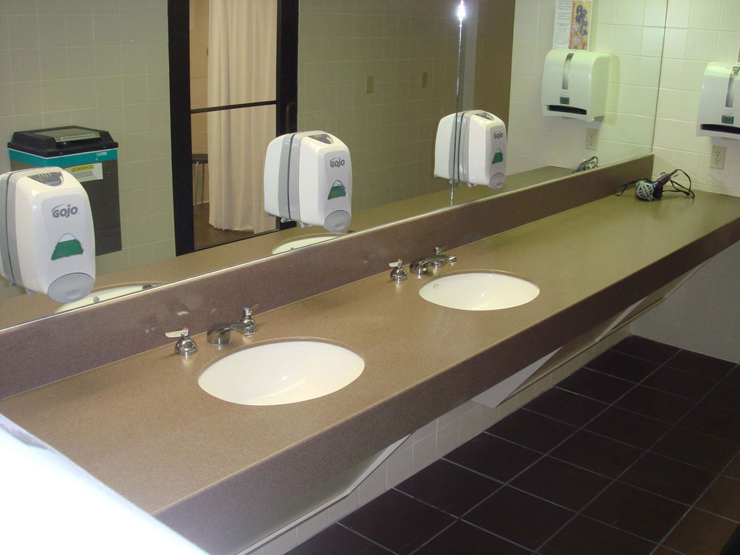 Commerical bathroom qconcept inc dallas fort worth texas custom woodworking office - Commercial bathrooms designs ...