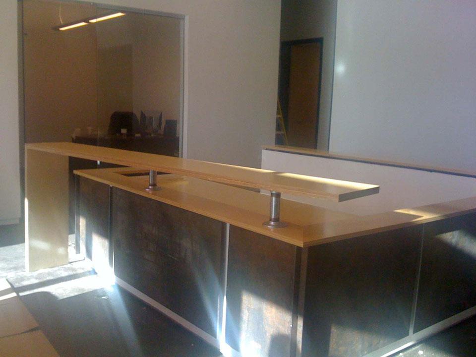 Commerical Reception Area QConcept Inc Dallas Fort Worth Texas Custo